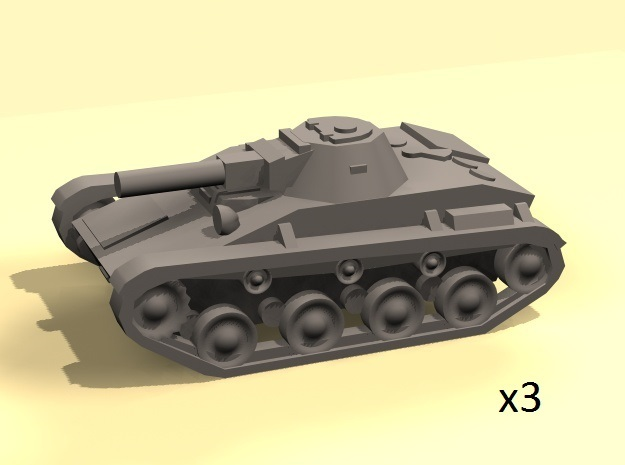 1/160 T-60 tanks (low) in Smooth Fine Detail Plastic