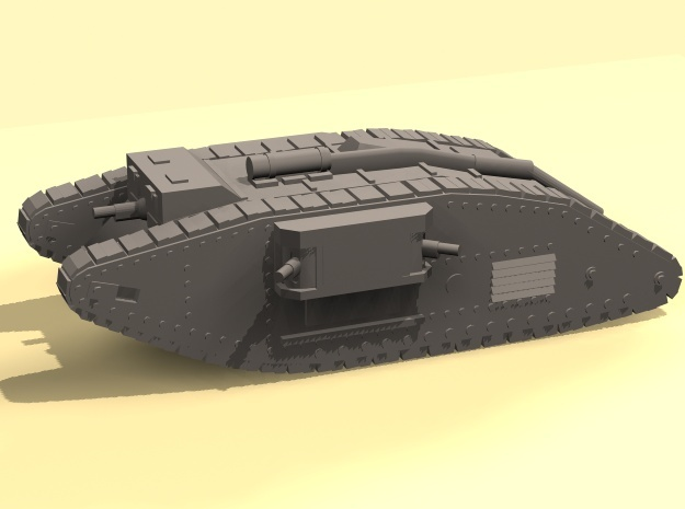 1/160 Mk IV Female Tank in Smooth Fine Detail Plastic