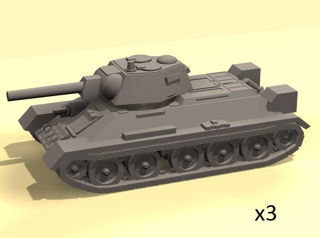 1/160  T-34 tanks in Smooth Fine Detail Plastic