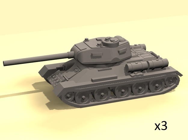 1/160 T-34-85 tank (3) in Frosted Ultra Detail