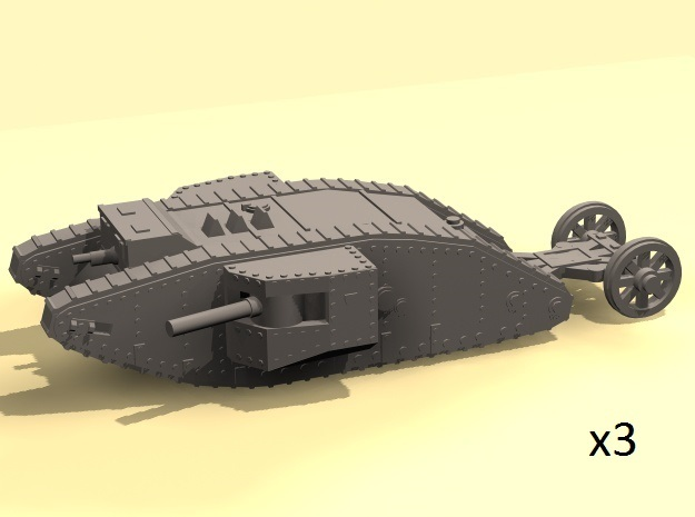 1/160 Mk.I Male tank in Smooth Fine Detail Plastic