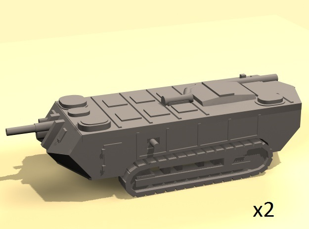 1/160 WW1 Saint-Chamond tanks x2 in Smooth Fine Detail Plastic