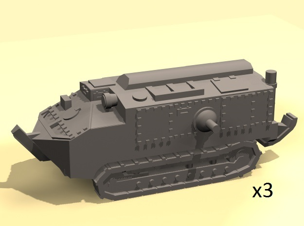 1/160 scale Schneider tank in Frosted Ultra Detail