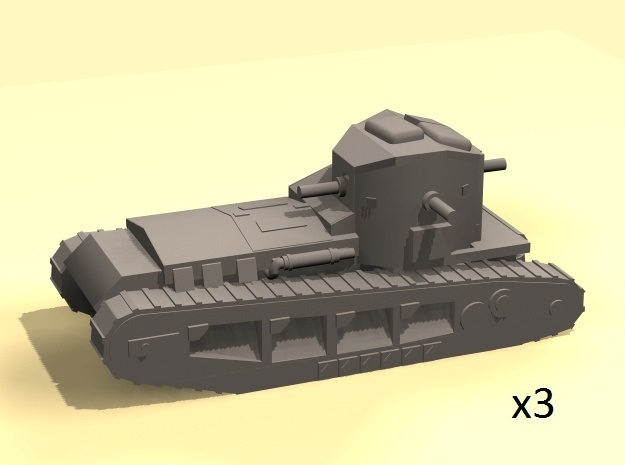 1/160 Whippet tanks (3) in Smooth Fine Detail Plastic