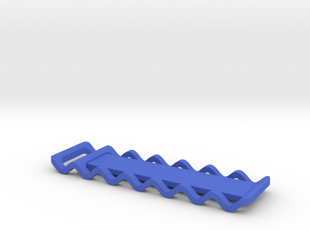 Corrugated Keychain in Blue Processed Versatile Plastic