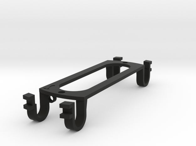 Strat-sized - (eureka)Sound Hole Pickup Mount in Black Natural Versatile Plastic