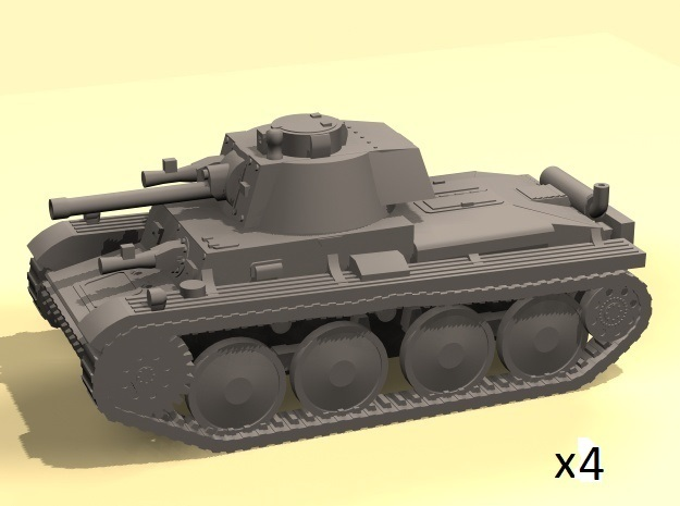 1/220 Panzer 38t tank (4) in Smooth Fine Detail Plastic