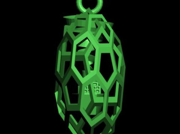 QUASI-DUALITY PENDANT WITH BOAT INSIDE  3d printed Description