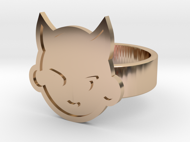 Imp Ring in 14k Rose Gold Plated: 10 / 61.5