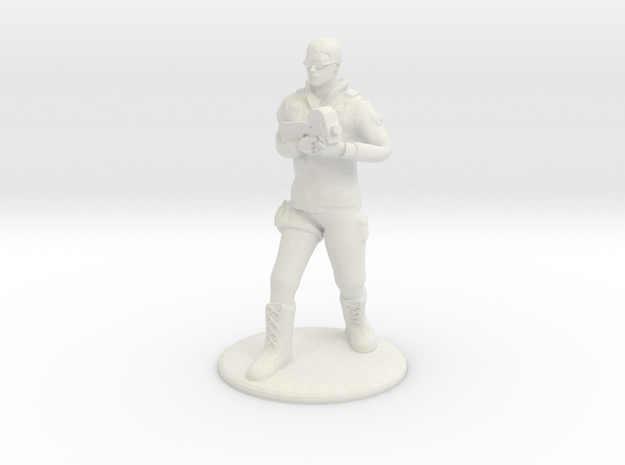 SG Male Soldier Walking 35mm new in White Natural Versatile Plastic