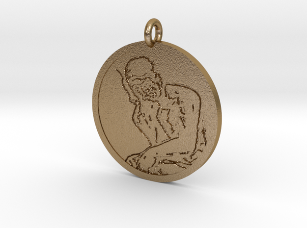 'The Vaper' Pendant in Polished Gold Steel