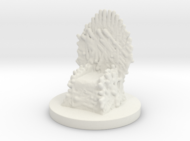 Game of Thrones Risk Piece Single - Iron Throne in White Natural Versatile Plastic