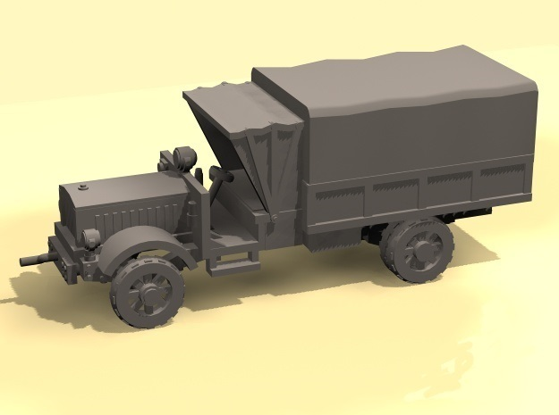 1/100 WW1 Light Truck with tent in White Strong & Flexible Polished