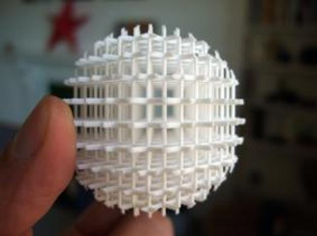 Mesh Acupuncture Ball 3d printed Description