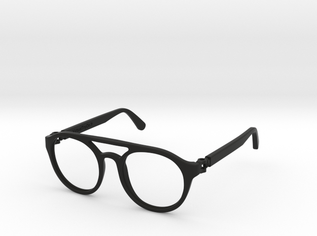 VirtualTryOn.fr Lunettes / Glasses : Enio in Black Strong & Flexible