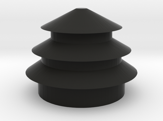 Temple of Heaven. in Black Natural Versatile Plastic: Medium