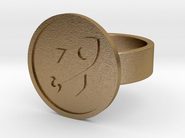 Rocket Ring in Polished Gold Steel: 10 / 61.5