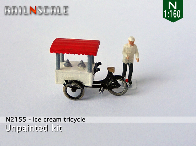 Ice cream tricycle (N 1:160) in Frosted Extreme Detail