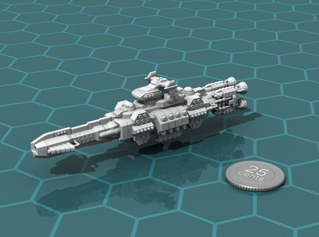 Chukulak Battlecruiser in White Strong & Flexible