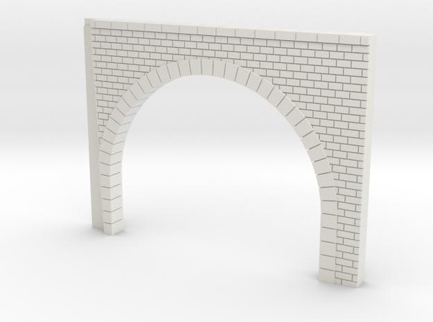 Tunnel droit double voie echelle N in White Strong & Flexible