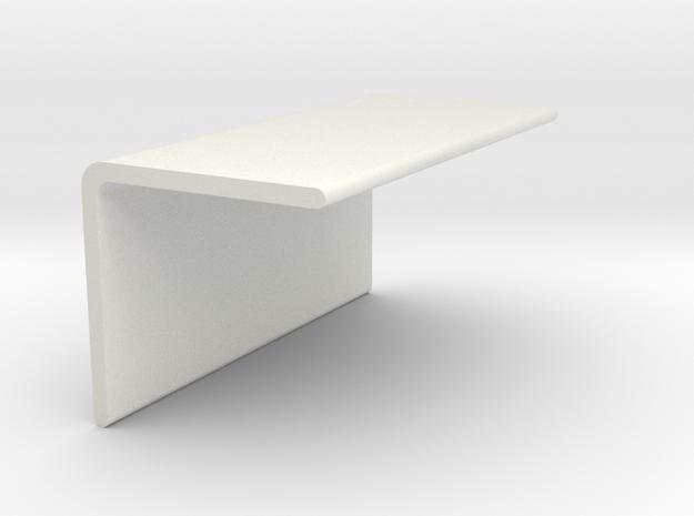 90 Degree Bracket-short in White Natural Versatile Plastic