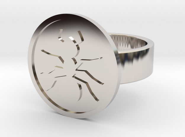 Ant Ring in Rhodium Plated Brass: 10 / 61.5