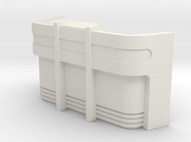 Console Type 9 (Star Trek) in White Natural Versatile Plastic: 1:30