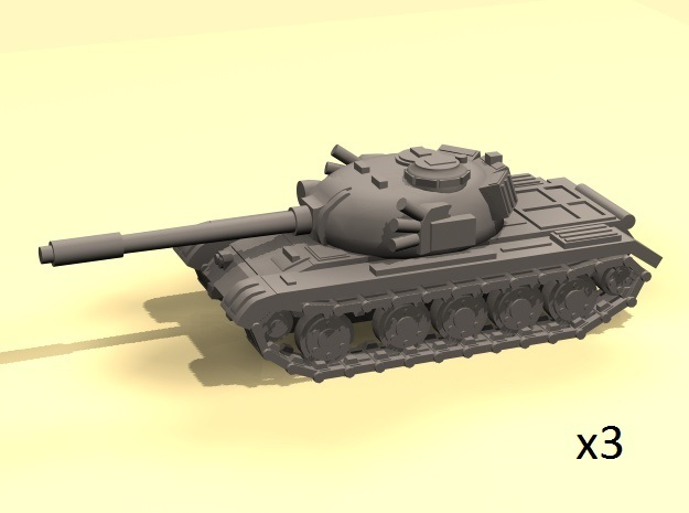 1/220 scale 1950s 60s Tank in Smooth Fine Detail Plastic