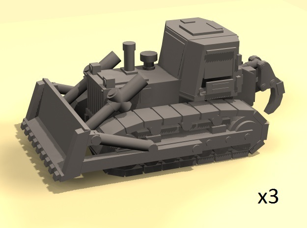 1/220 Bulldozer (3) in Frosted Ultra Detail
