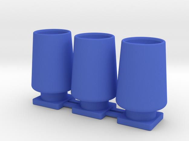 Spiralschlauchklemme 3fach in Blue Strong & Flexible Polished