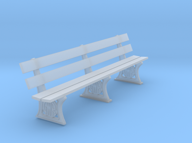 GWR Bench 7mm scale 10ft in Smooth Fine Detail Plastic