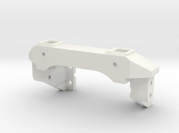 Traxxas TRX-4 Front Servo Winch Mount in White Natural Versatile Plastic