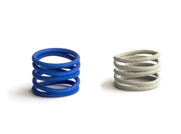 Curlicue spiral ring 3d printed Spiral ring