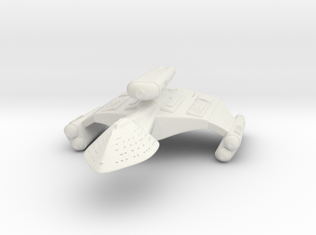 3125 Scale Romulan DemonHawk Dreadnought MGL in White Strong & Flexible
