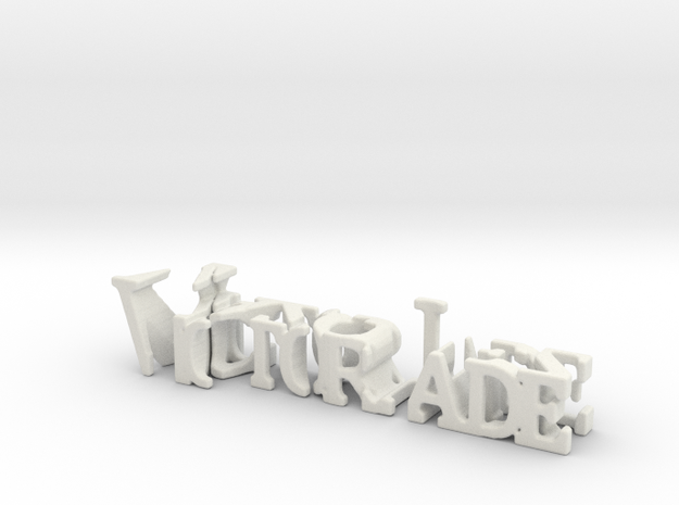 3dWordFlip: Victor Jade/Vazquez in White Natural Versatile Plastic