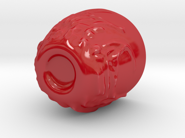 Fiery Coffee Cup in Gloss Red Porcelain