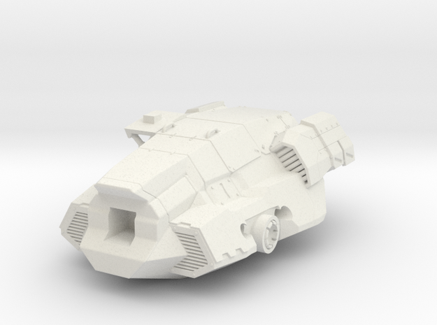 FanArt Battletech Marauder -  Torso in White Strong & Flexible: 1:60