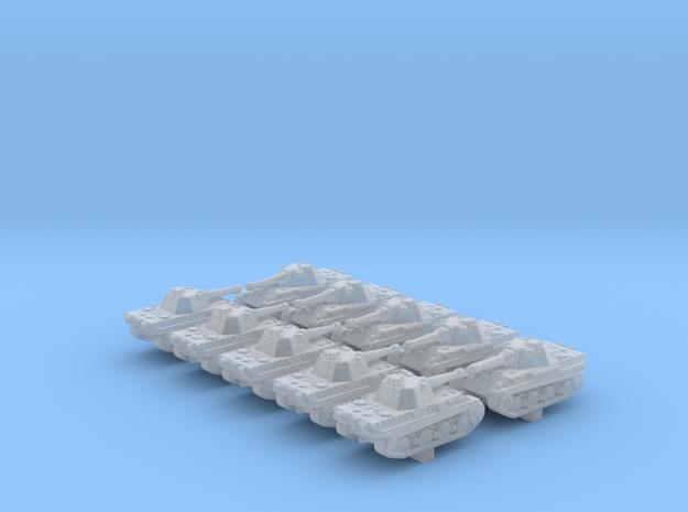 1/600 German Panther II Prototype Medium Tank x10 in Smoothest Fine Detail Plastic