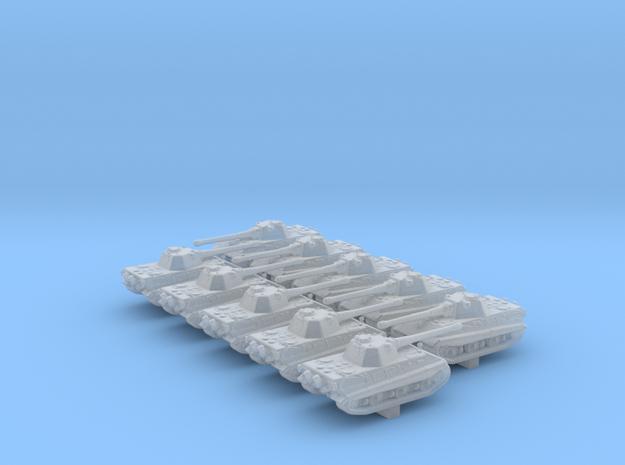 1/700 German E50 Medium Tank x10 in Smoothest Fine Detail Plastic