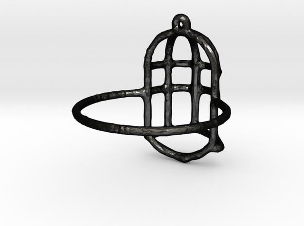 Florence Ring size 7.5 in Matte Black Steel