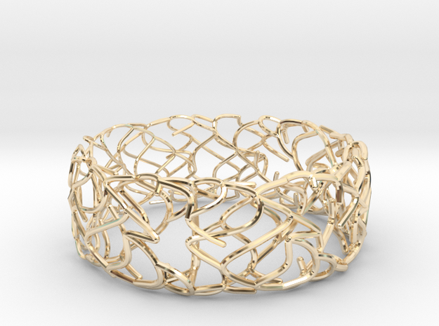 Sketch Bracelet in 14k Gold Plated Brass