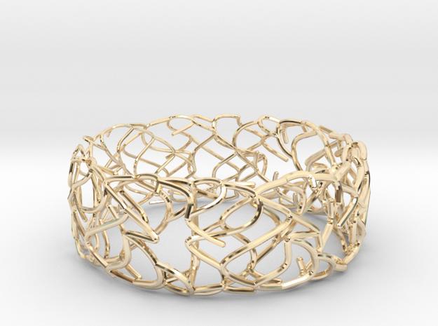 Sketch Bracelet in 14k Gold Plated Brass