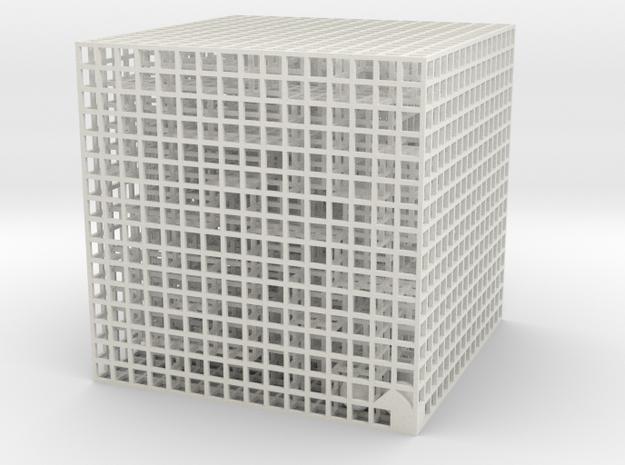Maze 06, 8x8x8 in White Natural Versatile Plastic: Medium