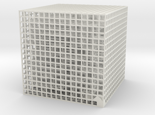 Maze 06, 8x8x8 in White Strong & Flexible: Medium