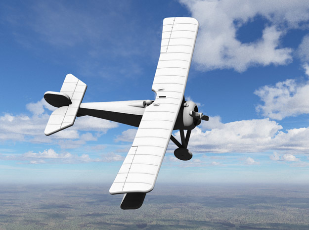 Nieuport 17 (Vickers) in White Strong & Flexible: 1:144