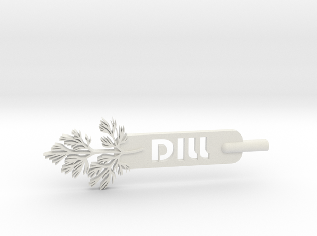 Dill Plant Stake in White Strong & Flexible