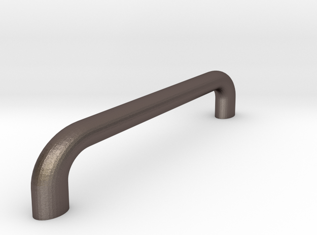 Milano Tape Deck Handle in Polished Bronzed Silver Steel