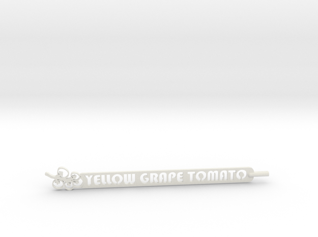 Yellow Grape Tomato Stake in White Natural Versatile Plastic
