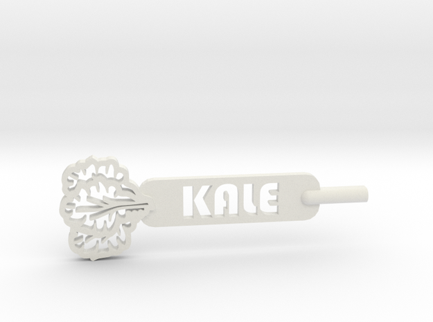 Kale Plant Stake in White Natural Versatile Plastic