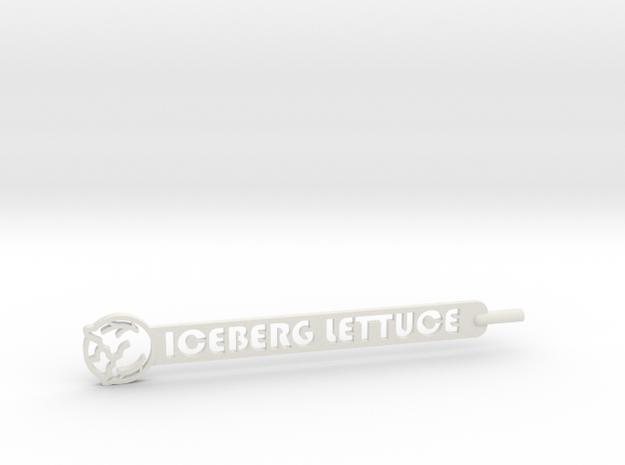 Iceberg Lettuce Plant Stake in White Natural Versatile Plastic